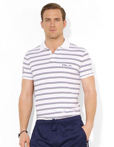 POLO RALPH LAUREN Wimbledon RLX Multi-Striped Piqué Polo Shirt