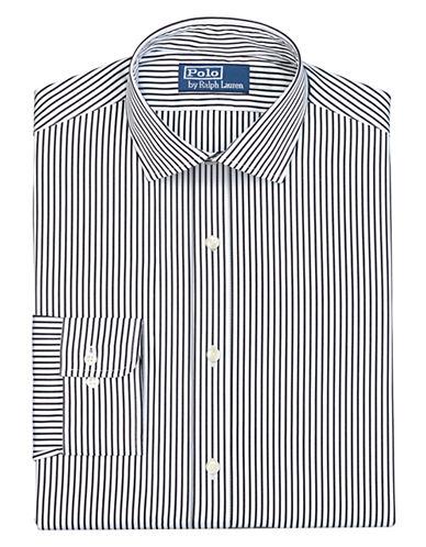 POLO RALPH LAURENFitted Striped Poplin Estate Dress Shirt