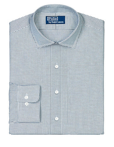 POLO RALPH LAUREN Fitted Checked Broadcloth Estate Dress Shirt