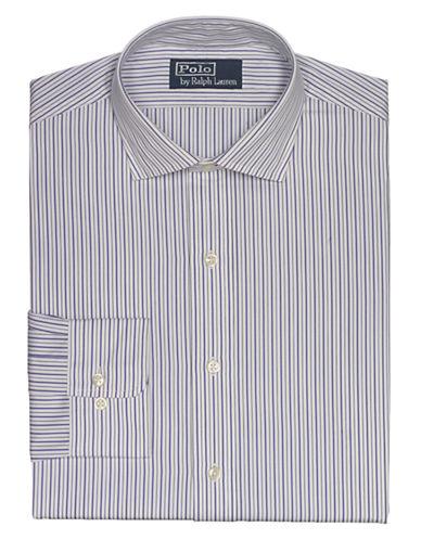 POLO RALPH LAURENFitted Multi-Striped Poplin Estate Dress Shirt