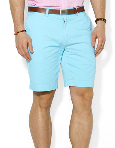 POLO RALPH LAURENClassic Fit Flat-Front 9 inch Chino Shorts