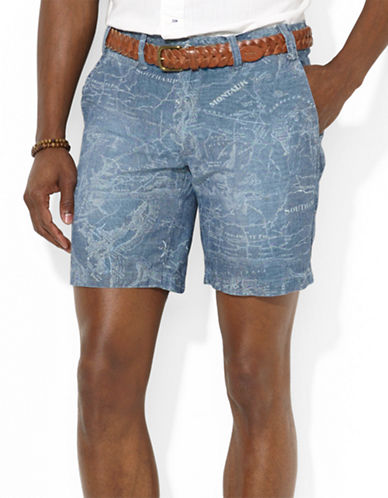 POLO RALPH LAUREN Straight-Fit Maritime Map-Print Shorts