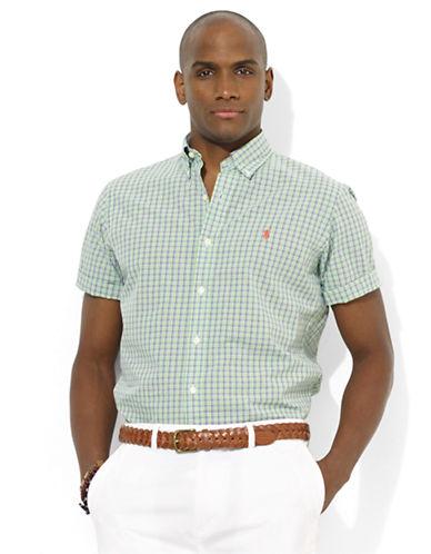 POLO RALPH LAURENCustom-Fit Short-Sleeve Plaid Poplin Sport Shirt