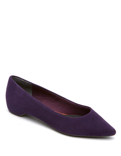 ROCKPORT Total Motion Suede Demi Wedge Pumps