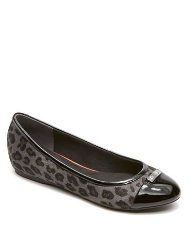 ROCKPORT Total Motion H Wedge Hair Calf Flats