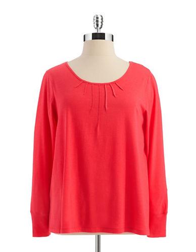 HUEPLUS Pintuck Long Sleeved Sleepshirt