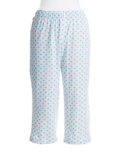 HUEFish Patterned Capri Pants