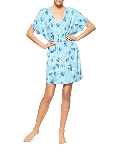 Plus Pineapple Luau Caftan plus size,  plus size fashion plus size appare