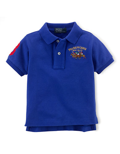 RALPH LAUREN CHILDRENSWEAR Baby Boys Cotton Mesh Polo