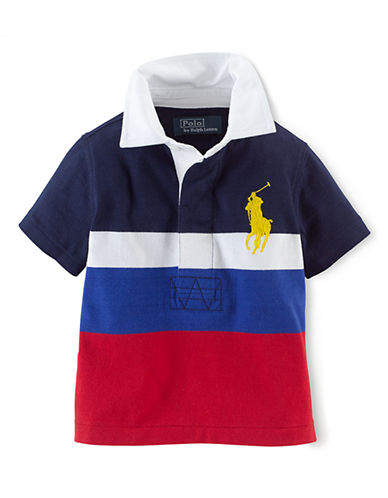 RALPH LAUREN CHILDRENSWEARBaby Boys Rugby Shirt