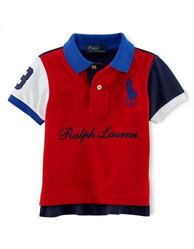 RALPH LAUREN CHILDRENSWEARBaby Boys Color-Block Polo Shirt