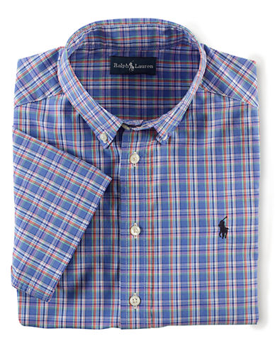 RALPH LAUREN CHILDRENSWEAR Boys 8-20 Cotton Poplin Shirt