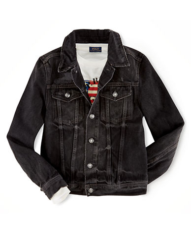 RALPH LAUREN CHILDRENSWEAR Boys 8-20 Denim Trucker Jacket