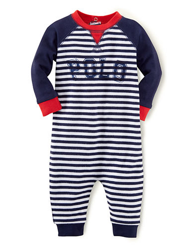 RALPH LAUREN CHILDRENSWEARBaby Boys Baby Boys Striped Jersey Coveralls