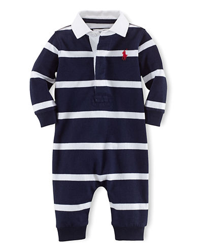 RALPH LAUREN CHILDRENSWEARBaby Boys Baby Boys Rugby Striped Coveralls