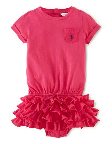 RALPH LAUREN CHILDRENSWEARBaby Girls Ruffled T-Shirt Dress