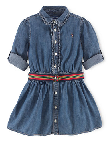 RALPH LAUREN CHILDRENSWEAR Girls 2-6x Denim Dress