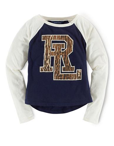 RALPH LAUREN CHILDRENSWEARGirls 7-16 Cotton Raglan T-Shirt