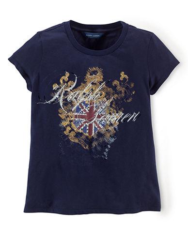 RALPH LAUREN CHILDRENSWEARGirls 7-16 Logo Flag Graphic T-Shirt