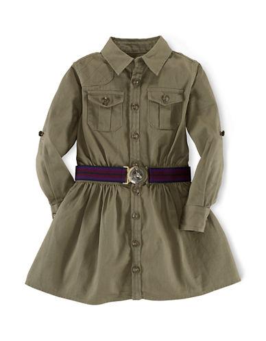 RALPH LAUREN CHILDRENSWEARGirls 2-6x Cotton Twill Shirt Dress