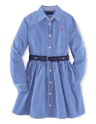 RALPH LAUREN CHILDRENSWEAR Girls 7-16 Collared Button-Down Dress