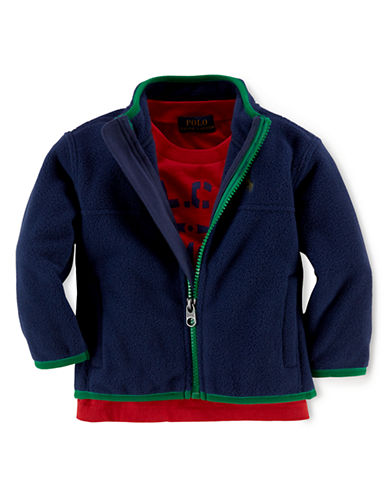 RALPH LAUREN CHILDRENSWEAR Baby Boys Full Zip Jacket