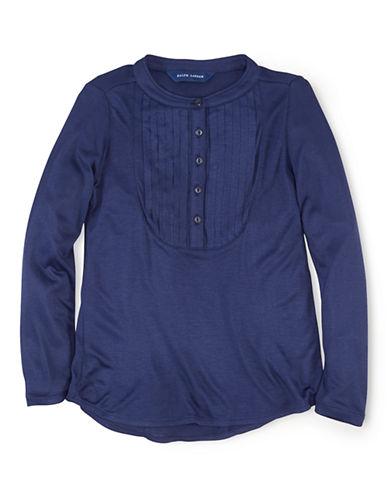 RALPH LAUREN CHILDRENSWEARGirls 2-6x Pleated Bib Shirt