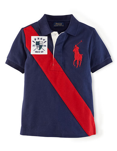 Ralph Lauren Childrenswear Boys 2-7 Mesh Vintage-Inspired Polo Shirt