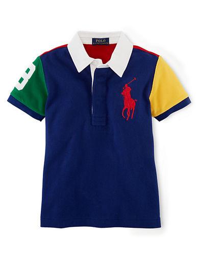 Ralph Lauren Childrenswear Boys 2-7 Cotton Mesh Color-Blocked Rugby Shirt
