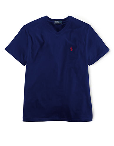 RALPH LAUREN CHILDRENSWEAR Boys 2-7 V-Neck Cotton T-Shirt