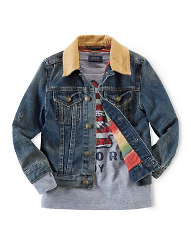 RALPH LAUREN CHILDRENSWEAR Boys 2-7 Trucker Jacket