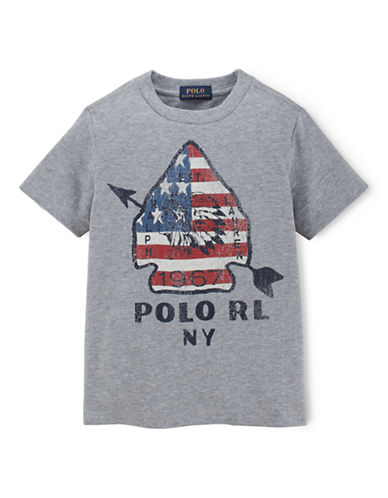RALPH LAUREN CHILDRENSWEAR Boys 2-7 Crewneck Tee