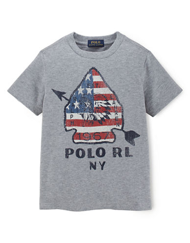 RALPH LAUREN CHILDRENSWEAR Boys 8-20 Graphic Tee