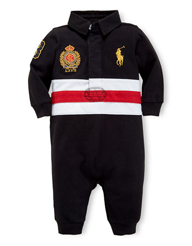 RALPH LAUREN CHILDRENSWEARBaby Boys Rugby Coverall