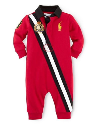 RALPH LAUREN CHILDRENSWEARBaby Boys Long Sleeve Coverall