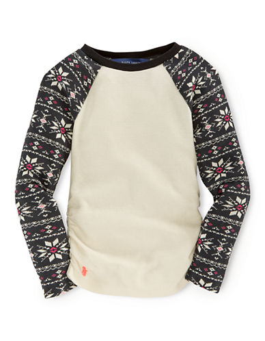 RALPH LAUREN CHILDRENSWEAR Girls 2-6x Baseball Tee