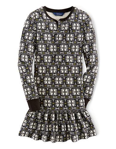 RALPH LAUREN CHILDRENSWEARGirls 7-16 Waffle Knit Cotton Dress