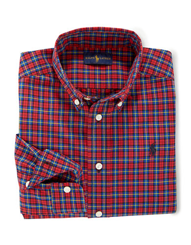 RALPH LAUREN CHILDRENSWEAR Boys 2-7 Plaid Cotton Poplin Shirt