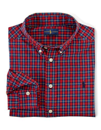 RALPH LAUREN CHILDRENSWEARBoys 8-20 Cotton Button Front Shirt