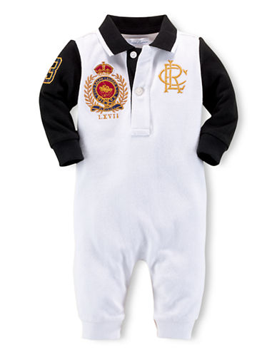 RALPH LAUREN CHILDRENSWEARBaby Boys Polo Coverall