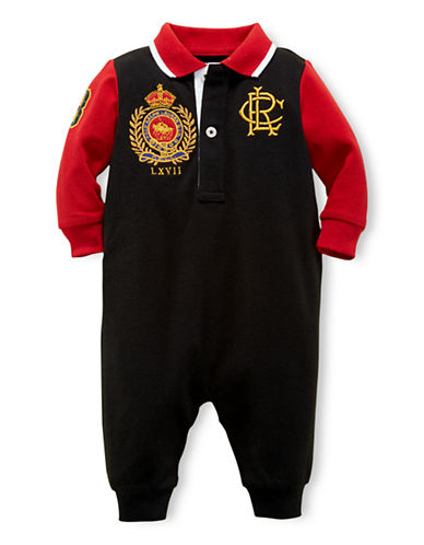 RALPH LAUREN CHILDRENSWEARBaby Boys Cotton Polo Coverall