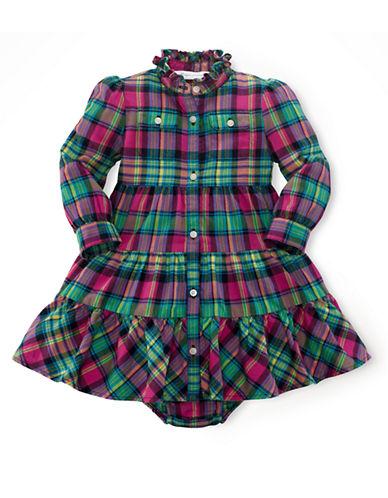 RALPH LAUREN CHILDRENSWEARBaby Girls Plaid Shirt Dress