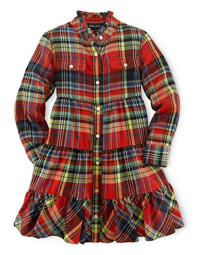 RALPH LAUREN CHILDRENSWEARGirls 2-6x Plaid Shirt Dress