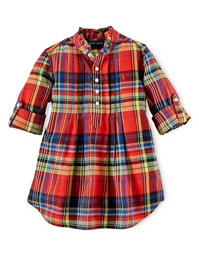 RALPH LAUREN CHILDRENSWEARGirls 2-6x Plaid Cotton Shirt