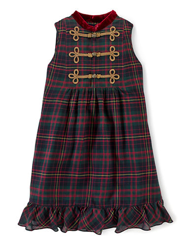 Shop Ralph Lauren Childrenswear online and buy Ralph Lauren Childrenswear Girls 7-16 Embellished Plaid Party Dress dress online