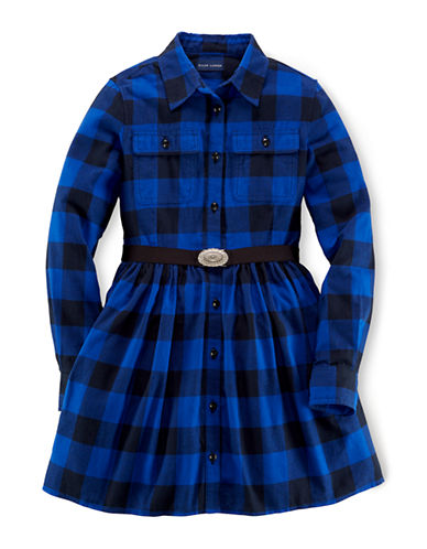 RALPH LAUREN CHILDRENSWEAR Girls 7-16 Rugged Shirtdress