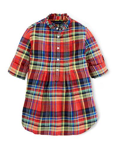 RALPH LAUREN CHILDRENSWEARGirls 7-16 Plaid Printed Cotton Shirt