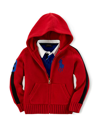 RALPH LAUREN CHILDRENSWEAR Boys 2-7 Zip Up Hoodie