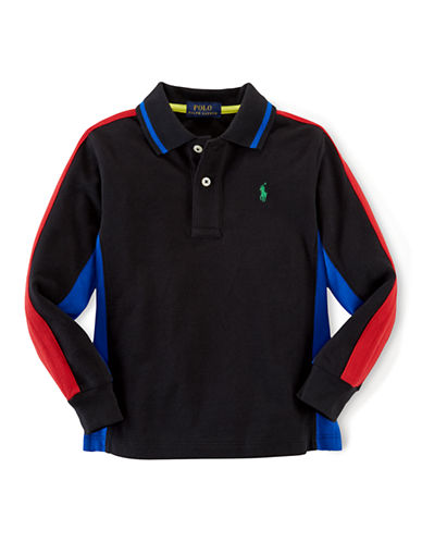 RALPH LAUREN CHILDRENSWEAR Boys 2-7 Colorblock Long Sleeve Polo
