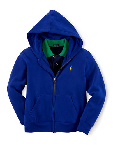 RALPH LAUREN CHILDRENSWEAR Boys 8-20 Cotton Blend Hoodie